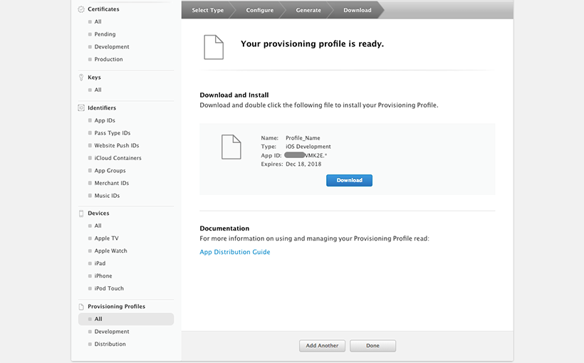 Download Provisioning Profile