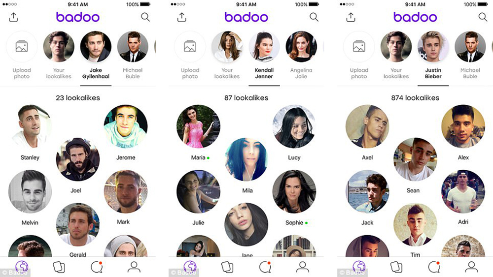 The Lookalike feature allows users to upload the photo of the desired celebrity