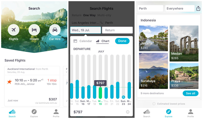 Example pf instant app: Skyscanner