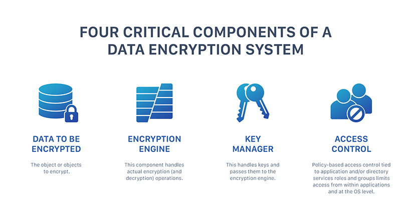 4 elements of data encryption system